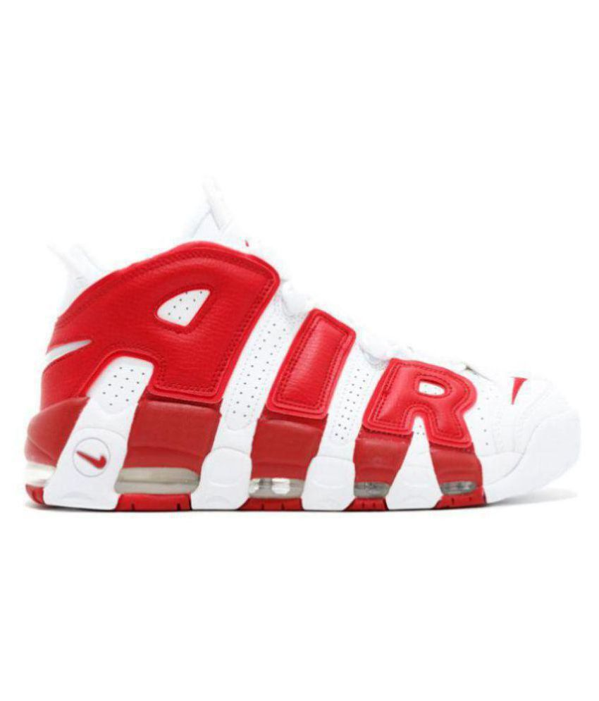 1409ce9ff81 Nike Air UpTempo White Basketball Shoes - Buy Nike Air UpTempo White  Basketball Shoes Online at Best Prices in India on Snapdeal