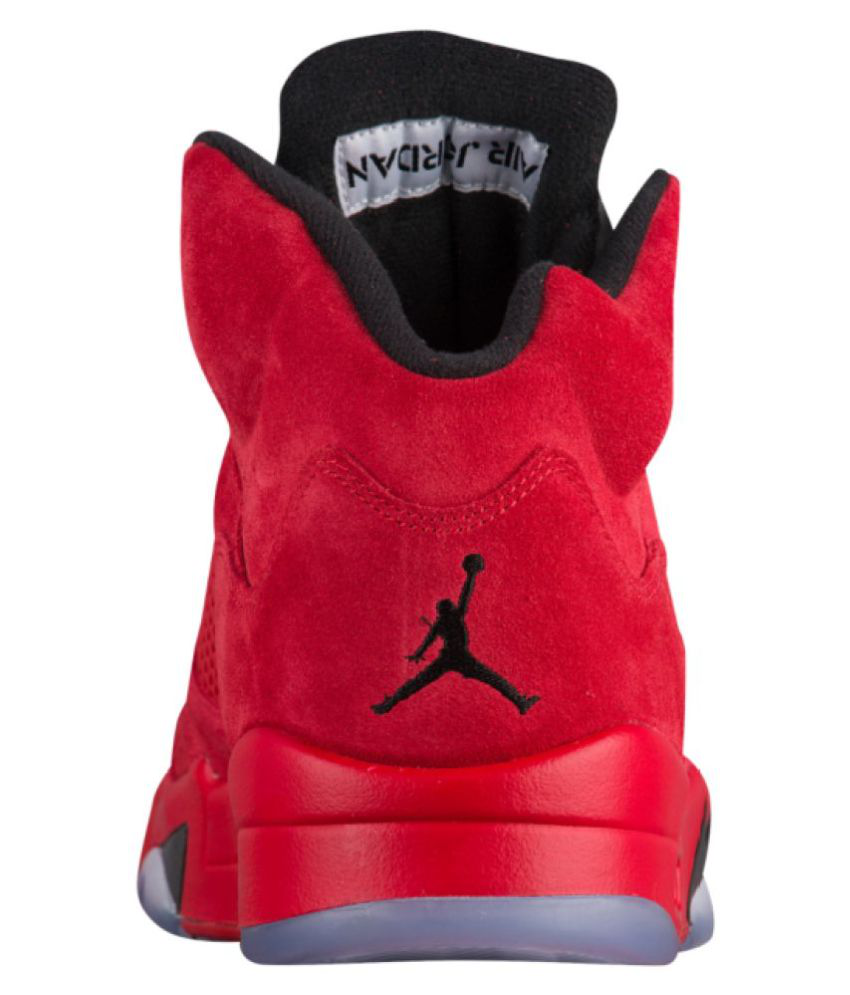 new arrival 1caf7 815a4 Nike Jordan Retro 5 Red Basketball Shoes