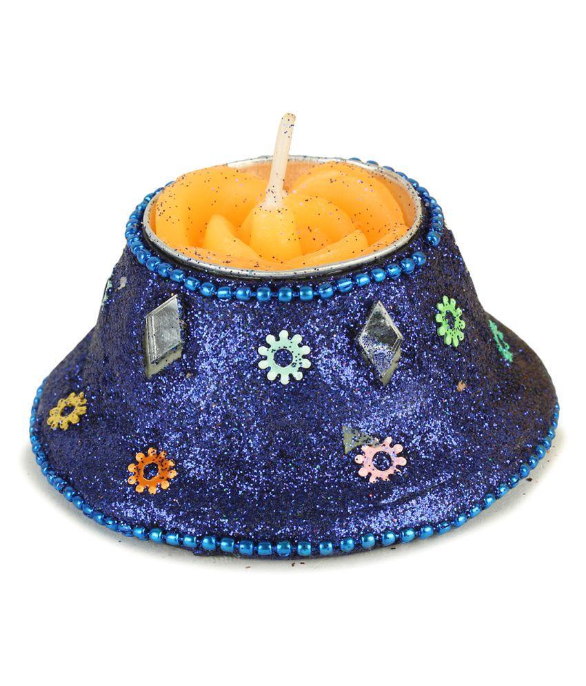 SPAVEDA Blue Wax Tea Light - Pack of 3