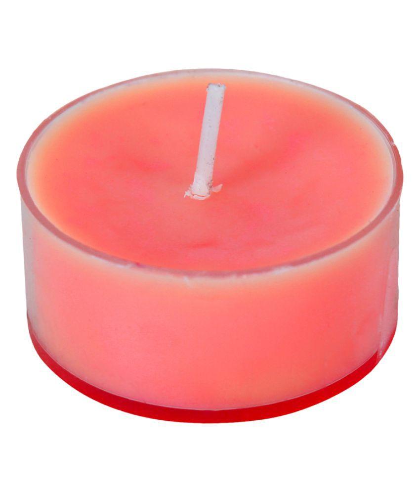 SPAVEDA Red Wax Tea Light - Pack of 9