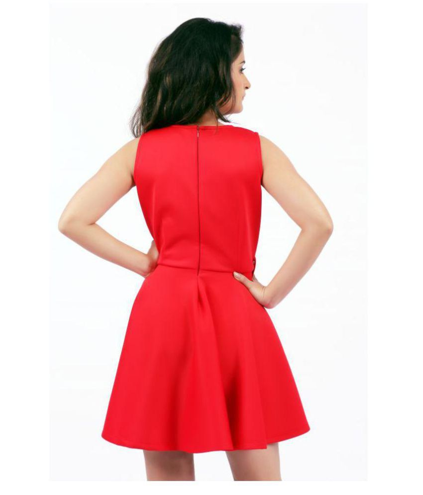 KONINK Scuba Red Skater Dress