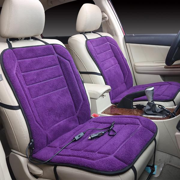 12v Heated Seat Cushion With Lumbar Support 3 Way Temperature
