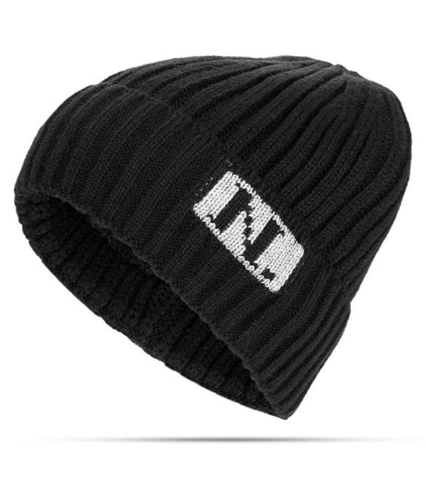 328d8ea1b14ee Men Women Acrylic Stripe Pattern Plus Addition Plush Solid Warm Elastic  Breathable Fashion Hat ...