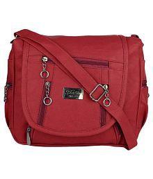 Quick View Sbs Bags Maroon P U Sling Bag