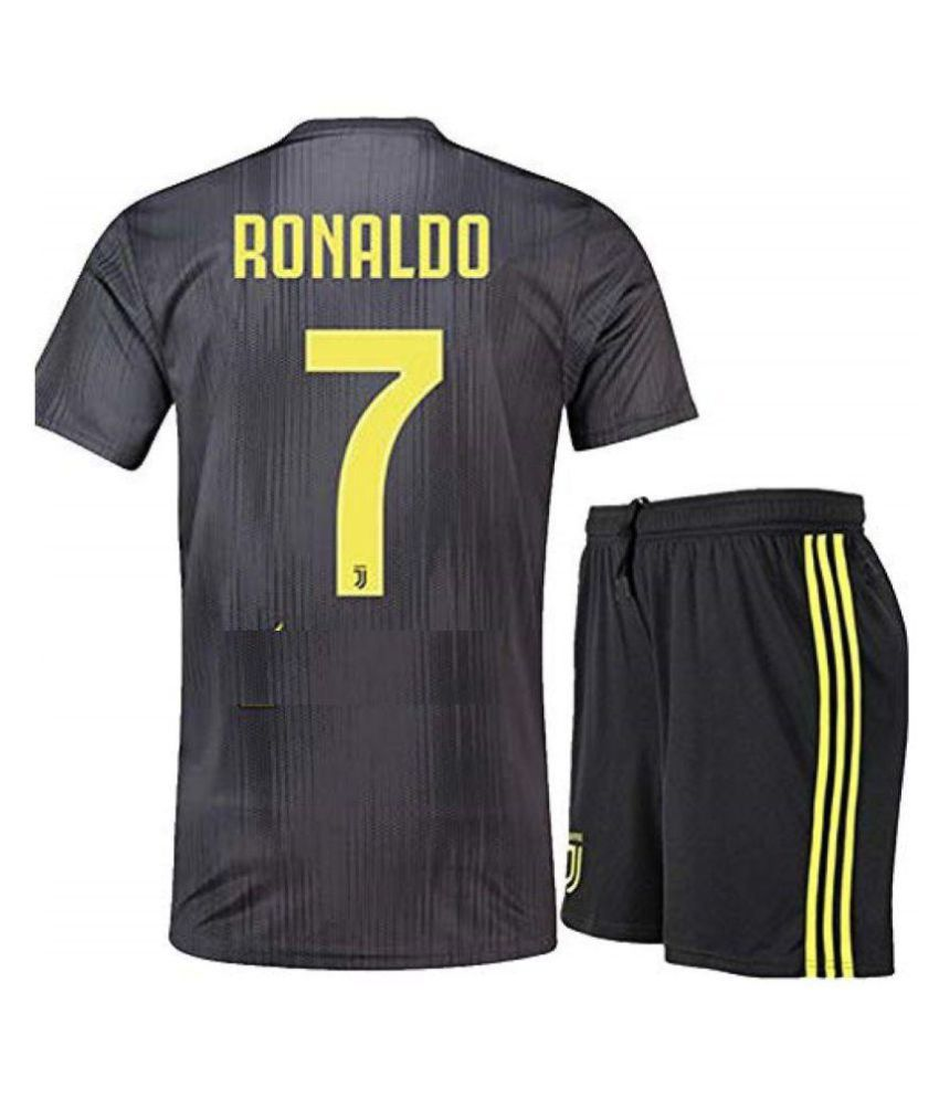 on sale a652e d1607 JUVENTUS THIRD RONALDO JERSEY WITH SHORTS 2018-2019 FOOTBALL JERSEY