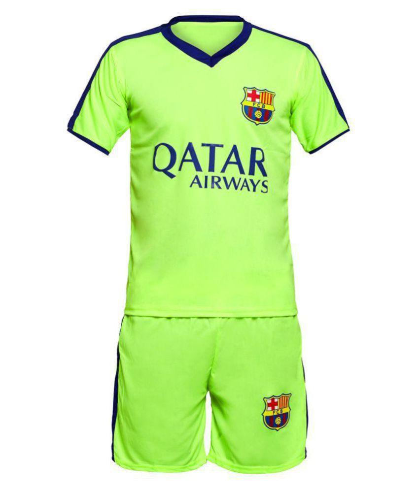 611f89d086b Sportigo Replica FC Barcelona KIDS Football Jersey Set - Green Blue - Buy  Sportigo Replica FC Barcelona KIDS Football Jersey Set - Green Blue Online  at Low ...