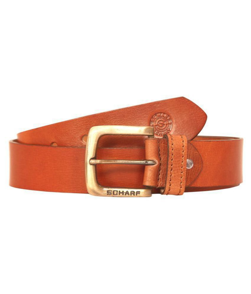 Scharf Tan Leather Casual Belt - Pack of 1