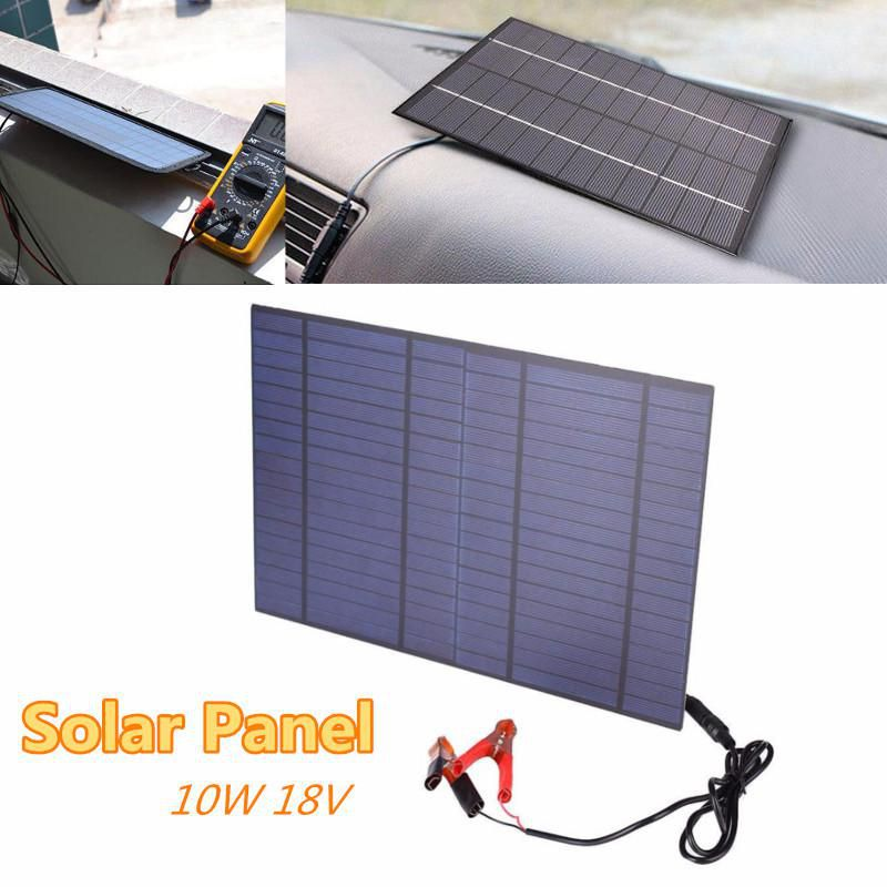 10W 18V Portable Solar Panel Power Cell Charger Monocrystalline