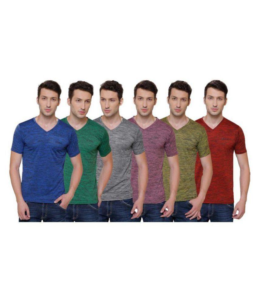allinone2020 Blue Half Sleeve T-Shirt Pack of 1