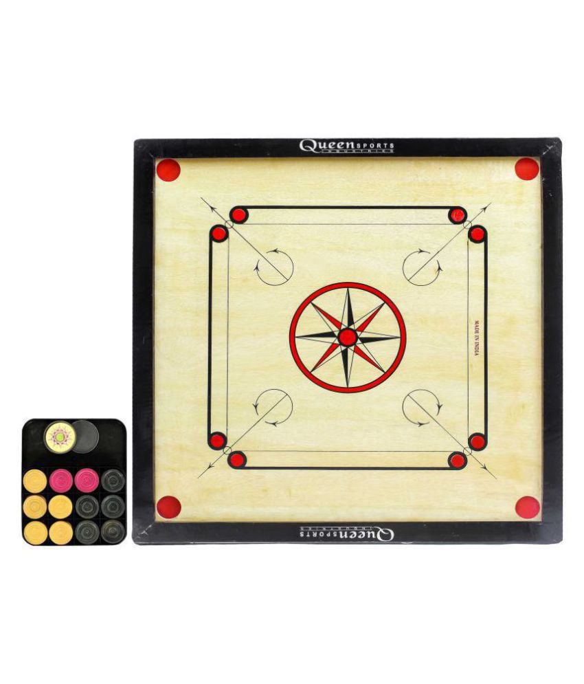 Queen Sports Industries Wooden Multicolor Carrom M