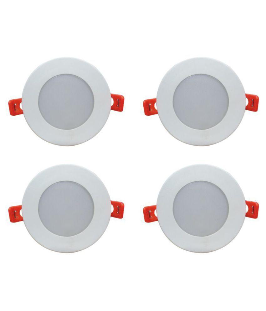 Bene 10W Round Ceiling Light 10.5 cms. - Pack of 4