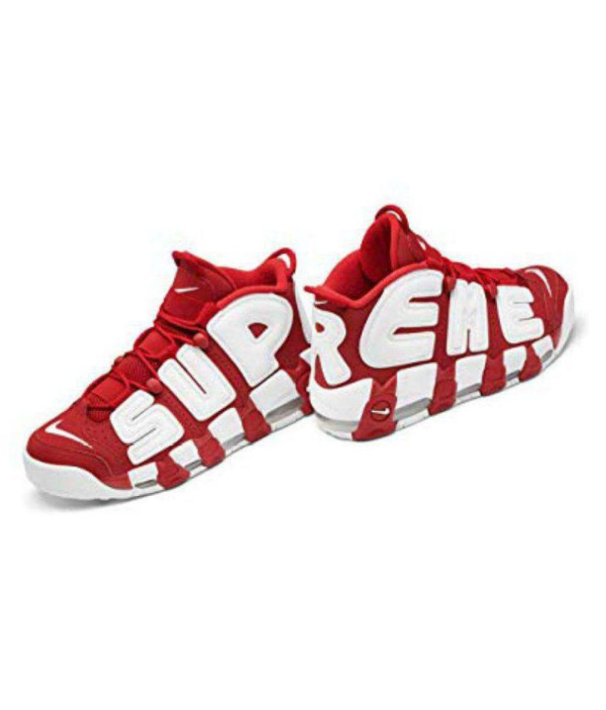 watch 0c714 1e0d8 Nike Air More Uptempo X Supreme Red Basketball Shoes - Buy Nike Air ...