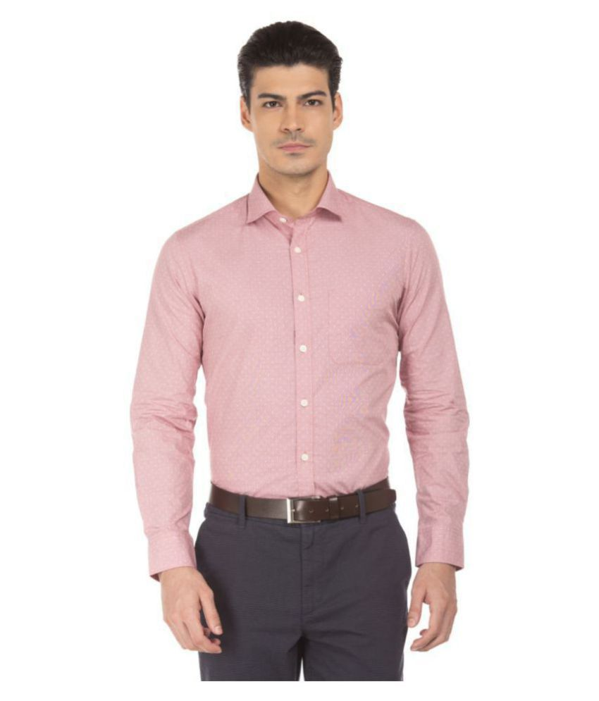 Us Polo Assn Pink Slim Fit Formal Shirt Buy Us Polo Assn