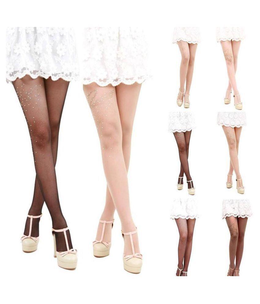 c7cfffe40 ... Women s Fashion Over Knee Long Socks Glitter Glossy High Tights  Stockings ...