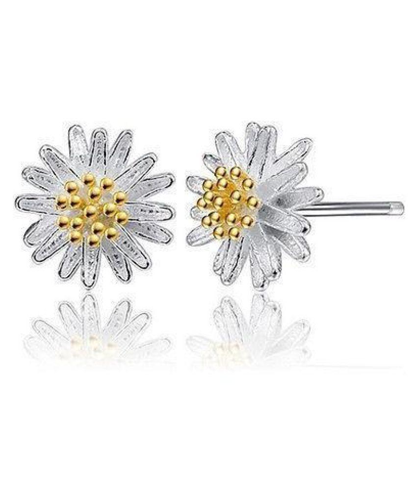 Women Fashion Elegant Daisy Flower Stud Earrings Jewelry Gift