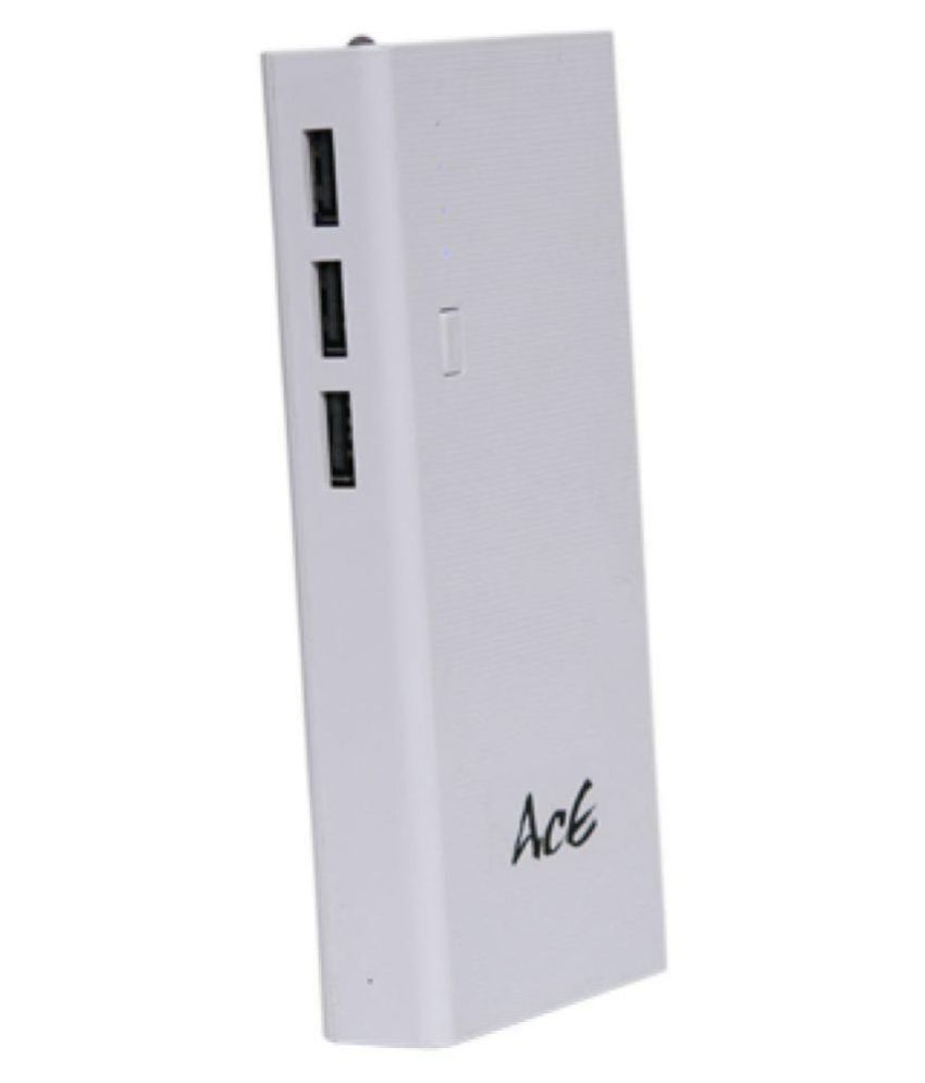 Aaceinlife pb24 12000  mAh Li Ion Power Bank White