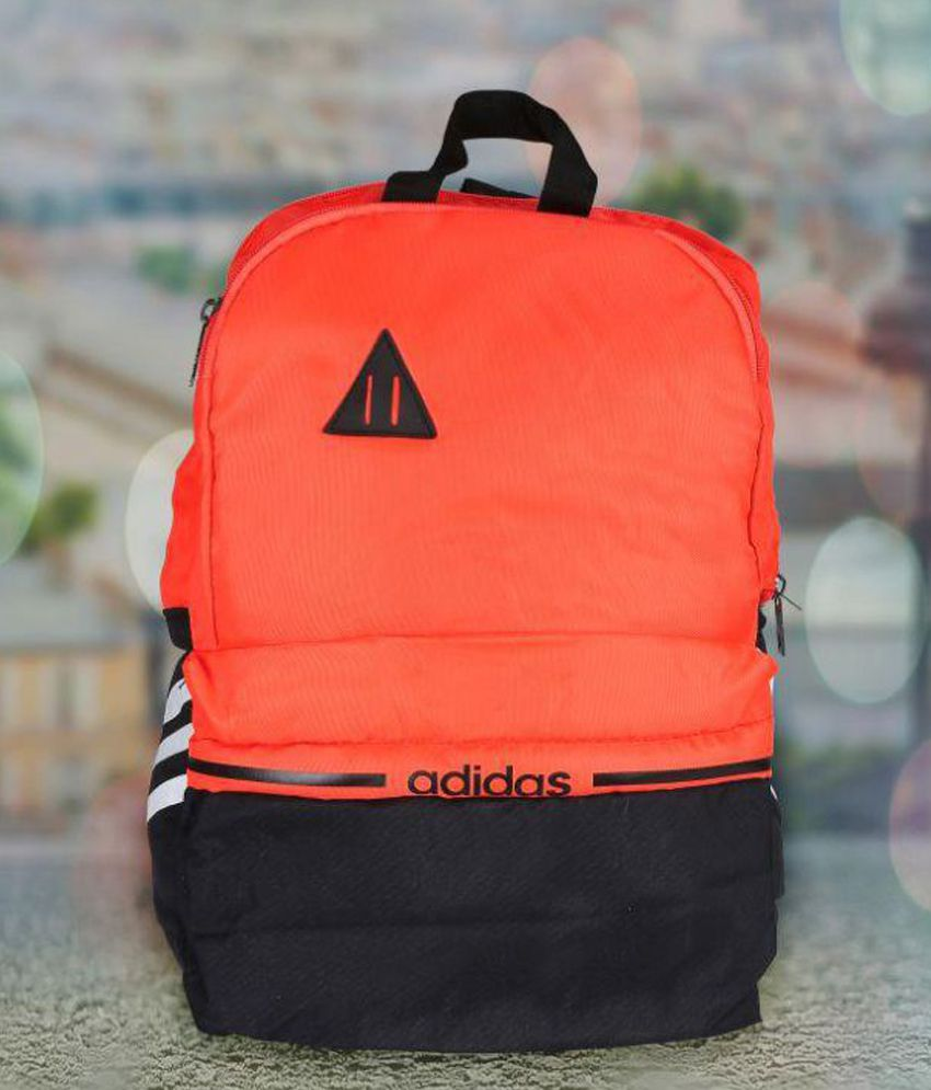 8db6c54357 Adidas Orange Polyester Backpack at Snapdeal at Rs.699 at Lowest Price at  SasteSaude