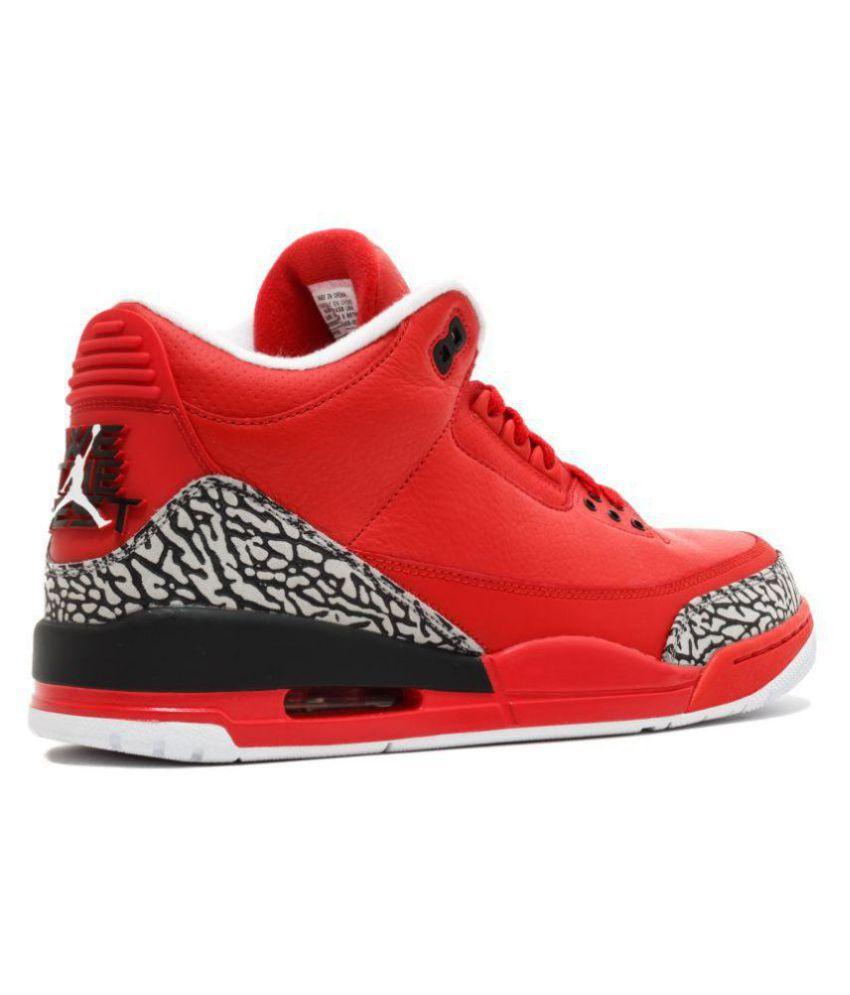 a41044d7aebe NIKE JORDAN RETRO 3 Red Basketball Shoes - Buy NIKE JORDAN RETRO 3 ...