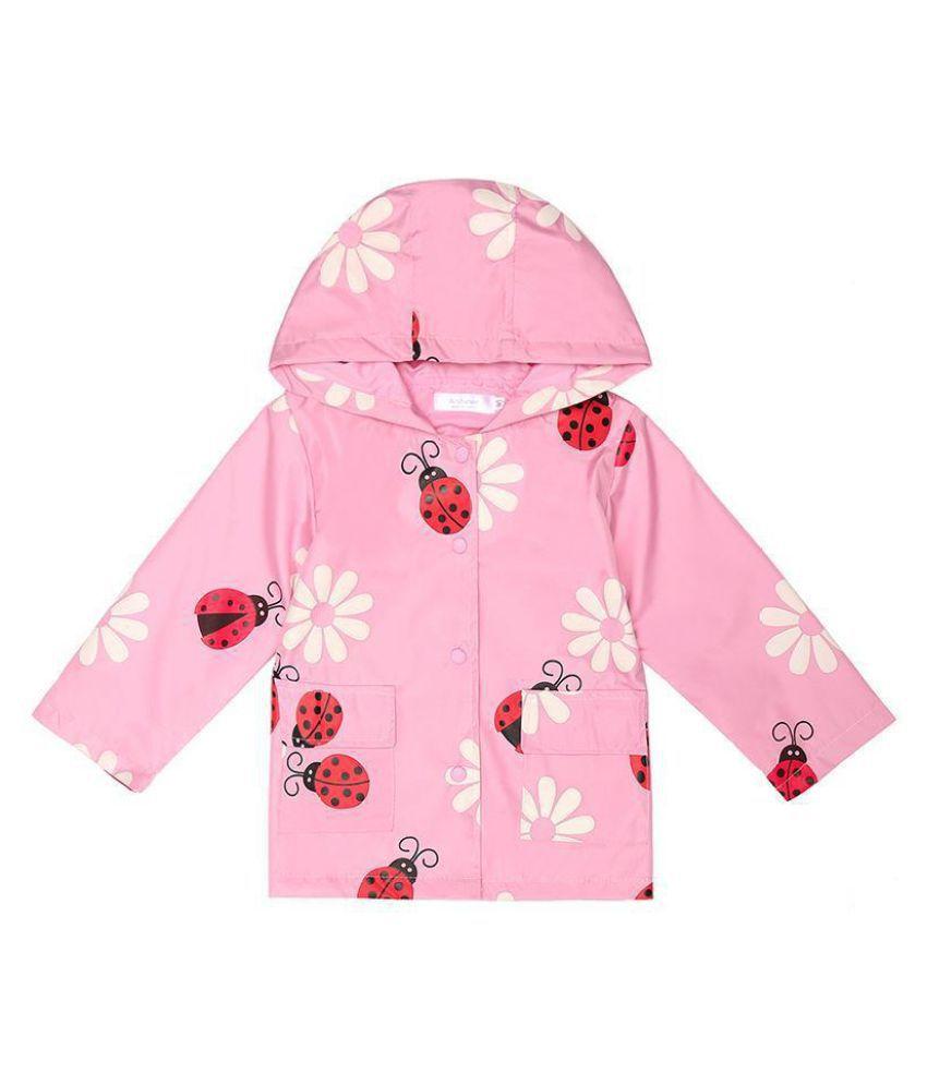 Kids Outwear Hooded Long Sleeve Print Windbreaker Warm Jackets