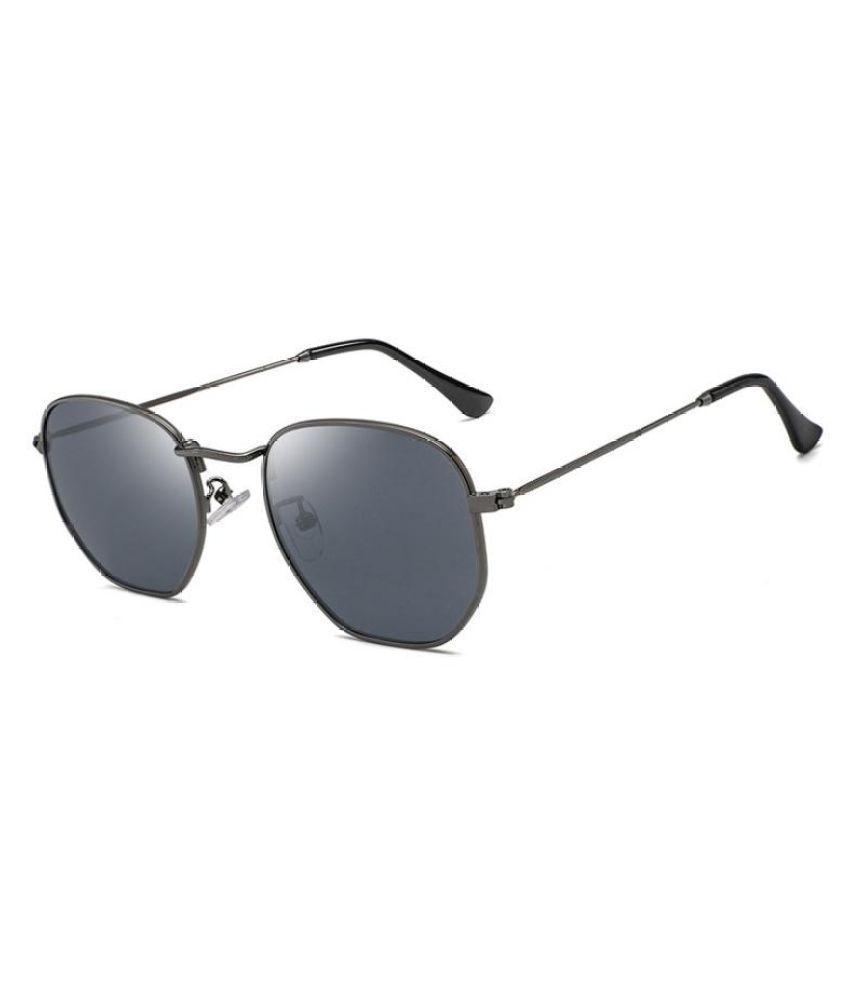 Womens Vintage Mirrored UV400 Round Polarized Sunglasses Outdoor Glasses Eyewear