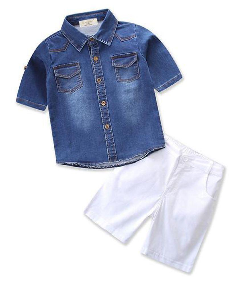 2pcs Infant Boys Short Clothing Sets Denim Shirt + Short Pants Boys Casual  Set Children Summer Cloth - Buy 2pcs Infant Boys Short Clothing Sets Denim  Shirt + Short Pants Boys Casual