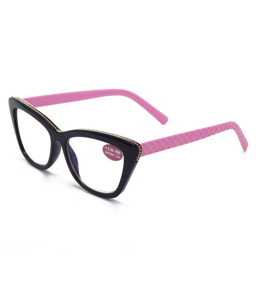 Women PC Lens Black Frame Fashion Cute Quality High Definition Cat Eye Reading Glasses