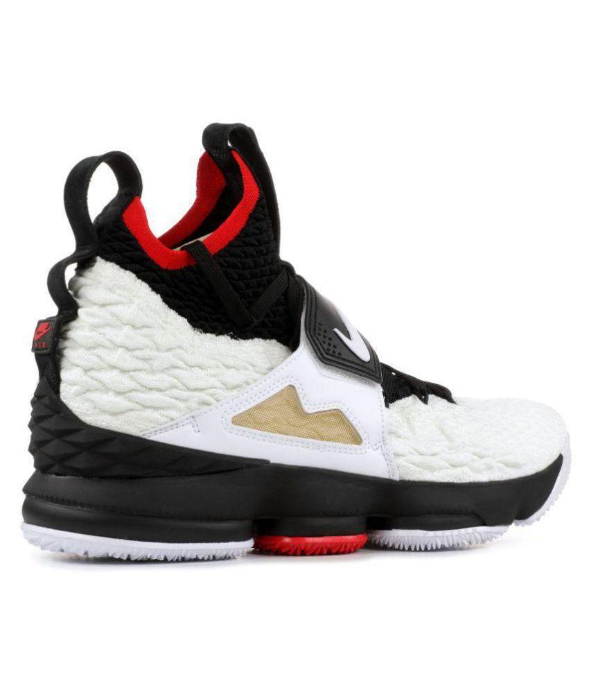 17128c3291bb81 Nike LEBRON XV PRIME DIAMOND White Basketball Shoes - Buy Nike ...
