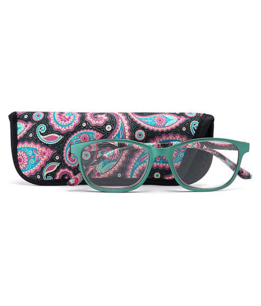 Women Retro PC Full Frame HD Reading Glasses Printed Glasses Legs Anti-fatigue Presbyopic Glasses