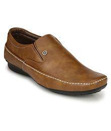 4e7c7fec4b Quick View. Rocklin Men Slip On Artificial Leather Tan Formal Shoes