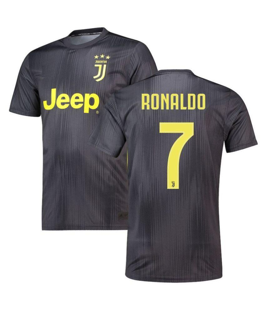 JUVENTUS THIRD KIT RONALDO PRINTED AT BACK 2018-19 SEASON HALF SLEEVES