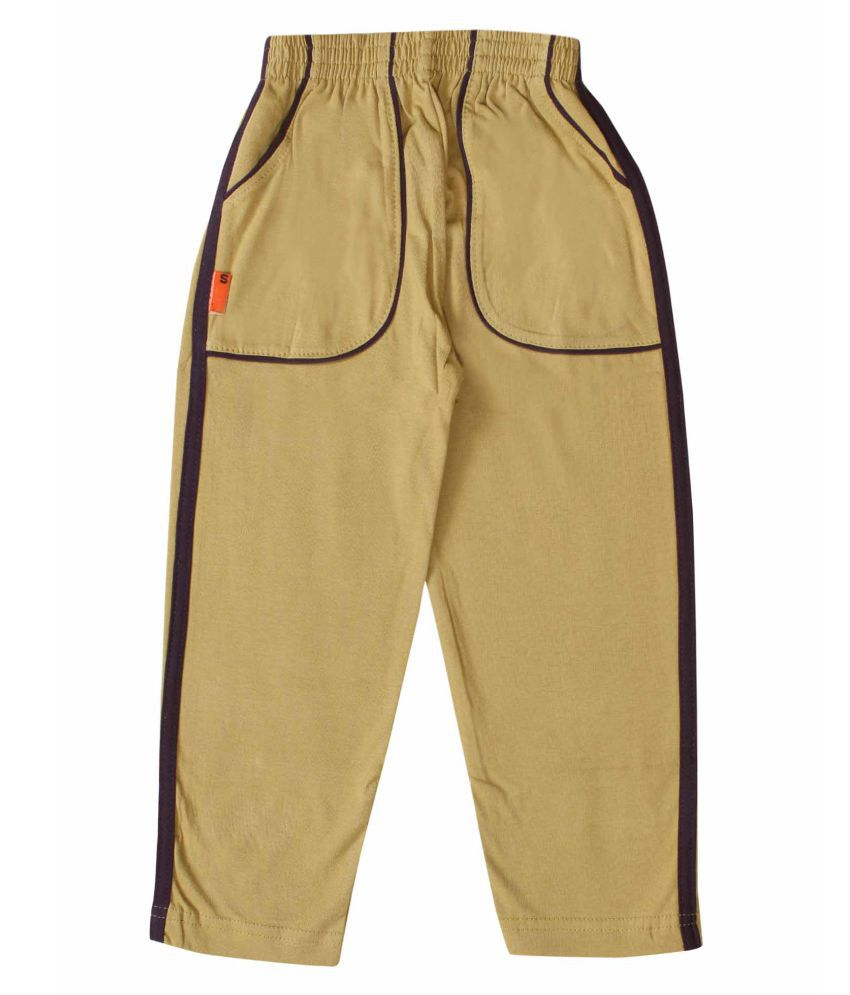 Kiddy Sky Girls Cotton Reguar Fit Track pant-Biscuit Color (2-10 Years)
