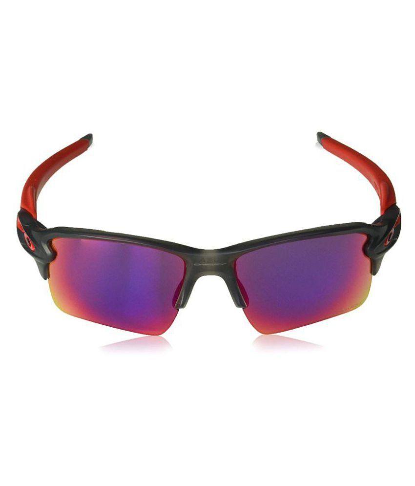 OAKLEY Multicolor Wrap Around Sunglasses ( Oakley Men's OO9188 Flak 2.0 XL Sunglasses )