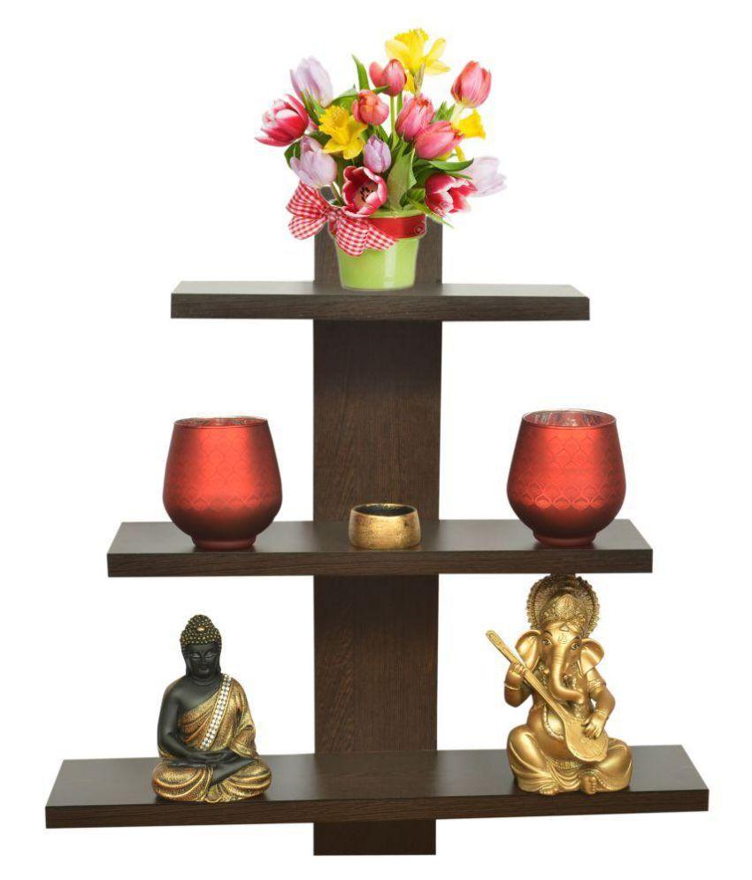 Anikaa Amara Multipurpose Wooden Wall / Floating Shelves /Showcase