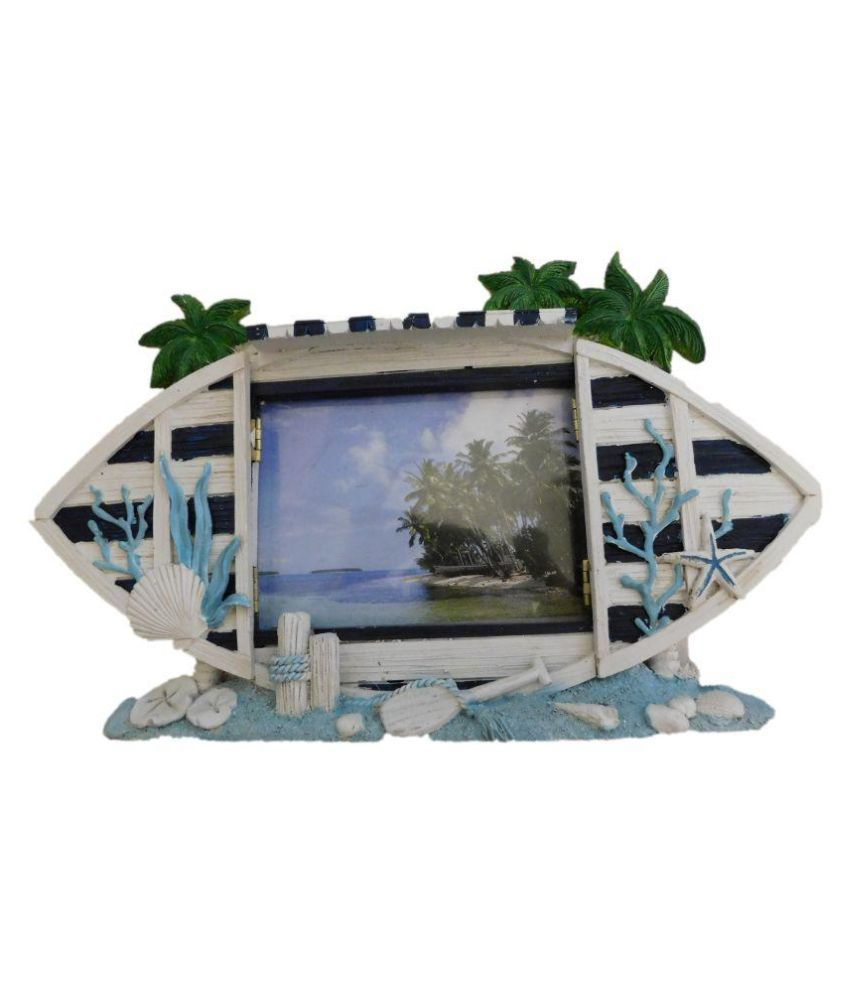 Fab5 Ceramic TableTop White Single Photo Frame - Pack of 1