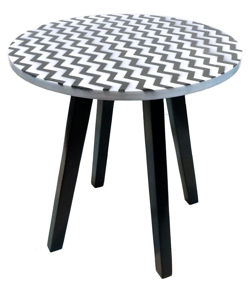 Hennings 4 Leg Side/ End Table - Gold