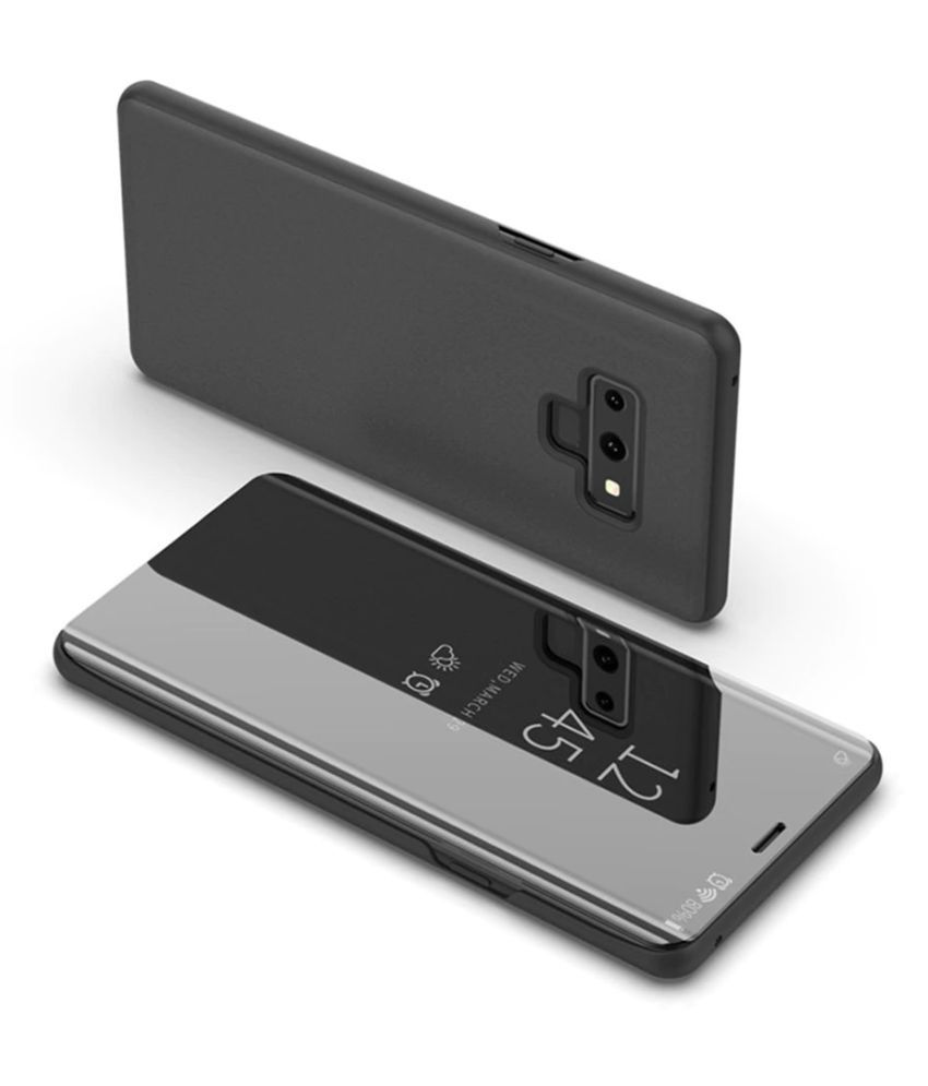 OnePlus 6 Flip Cover by Mobilecops - Black