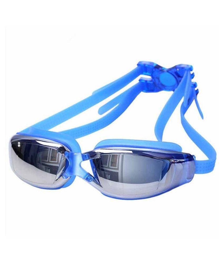 Adult Waterproof Anti-fog Electroplated HD Lens Glasses Anti-UV Swimming Goggles