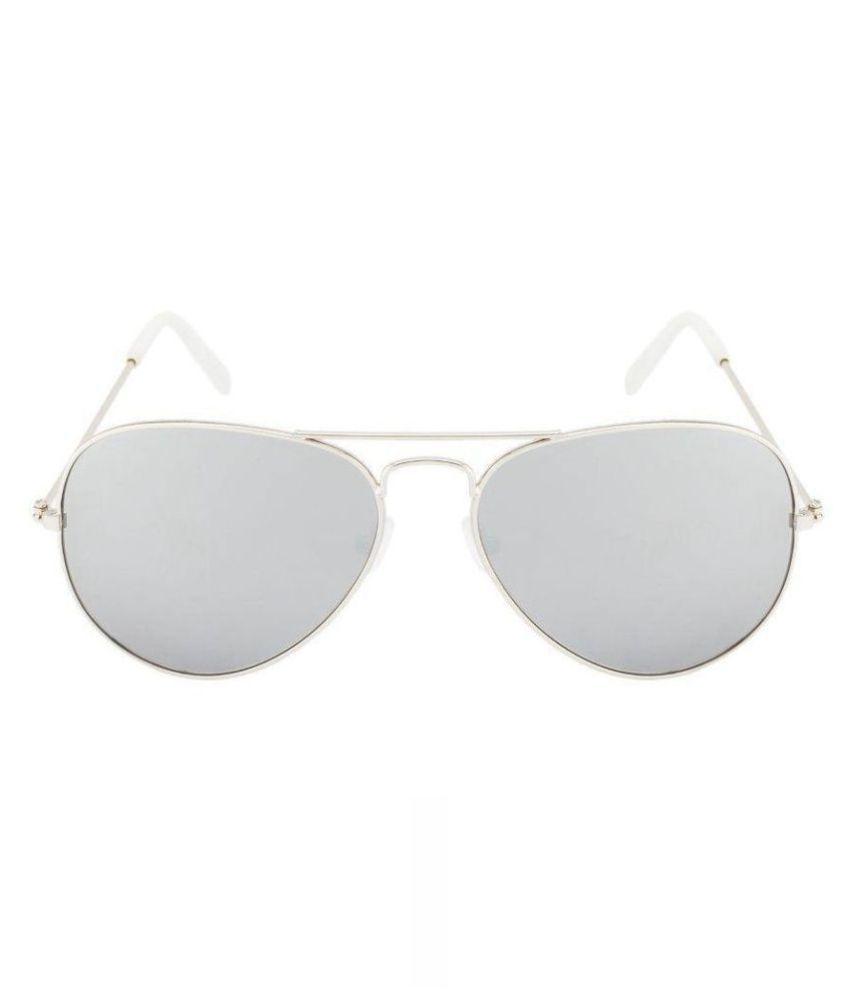 Mobilecops Silver Aviator Sunglasses ( (AV 463 UV 400) )