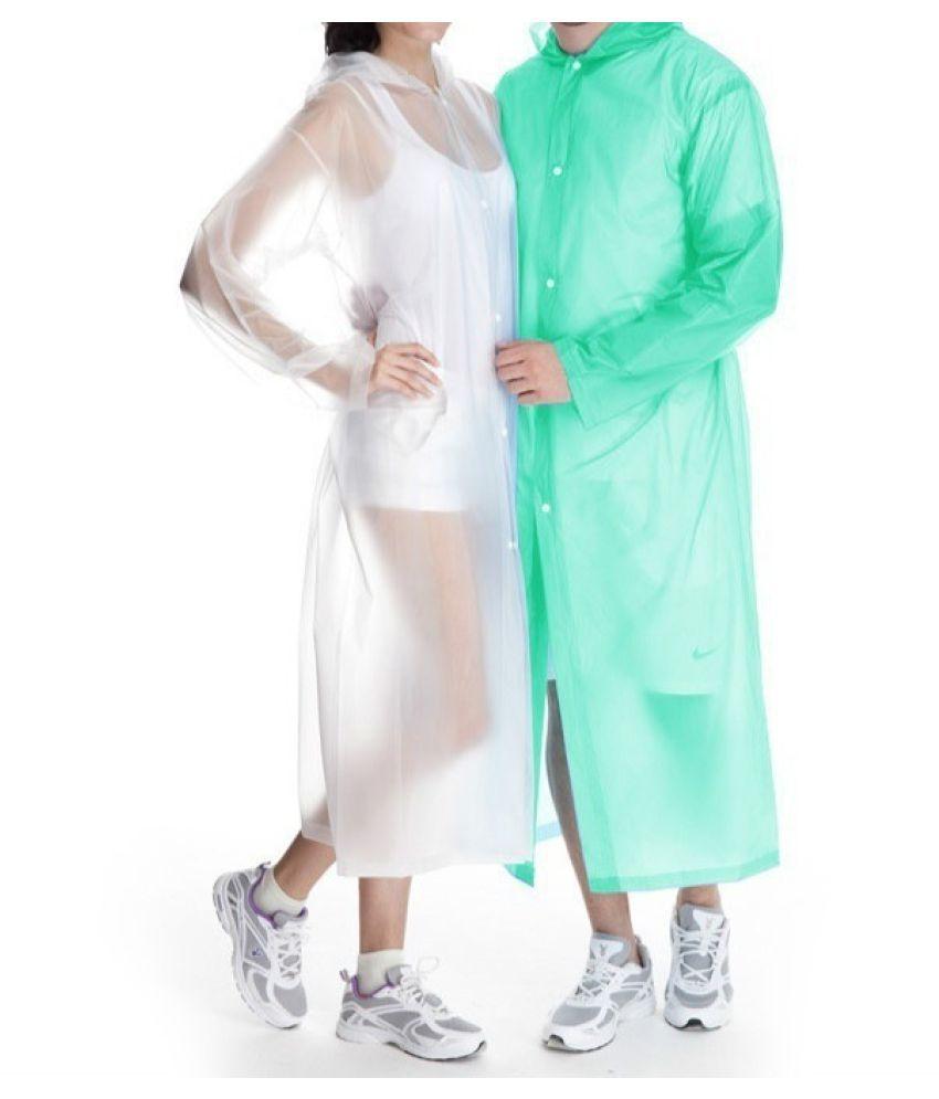 Destiny Waterproof Long Raincoat - Blue