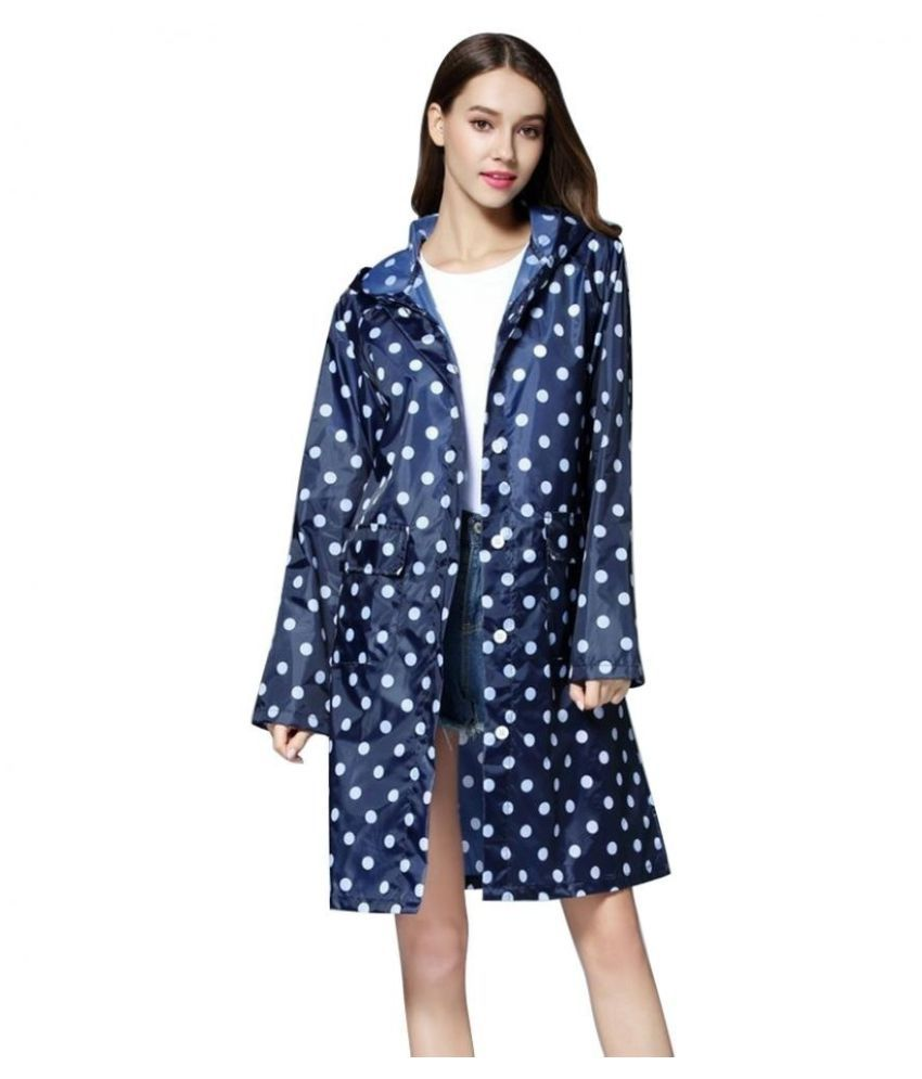 Destiny Waterproof Long Raincoat - Blue