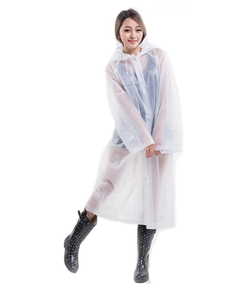 Destiny Waterproof Long Raincoat - Off White