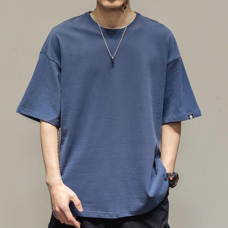 Haorun Blue Half Sleeve T-Shirt Pack of 1