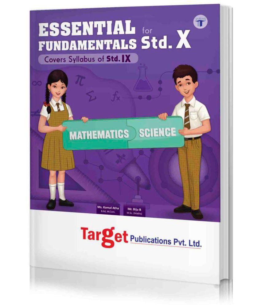 Essential Fundamentals of Std. 10th (Maths & Science), English Medium (MH Board)