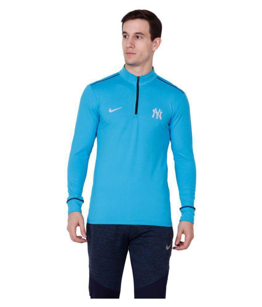 Nike Turquoise Full Sleeve T-shirt