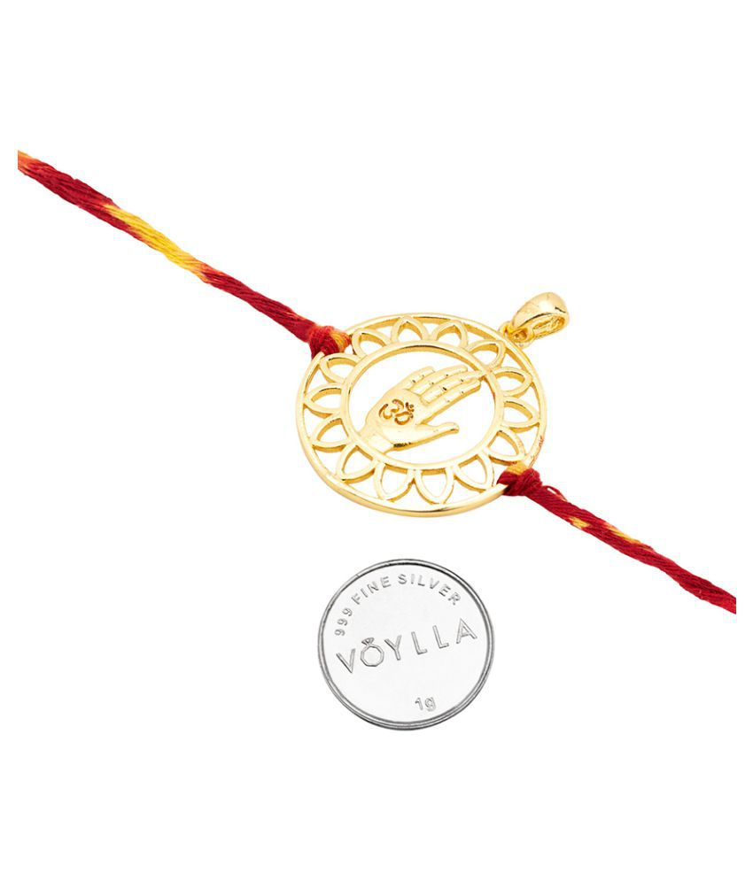 Dare by Voylla Rakhi Pendant Om Blessing With Silver Coin