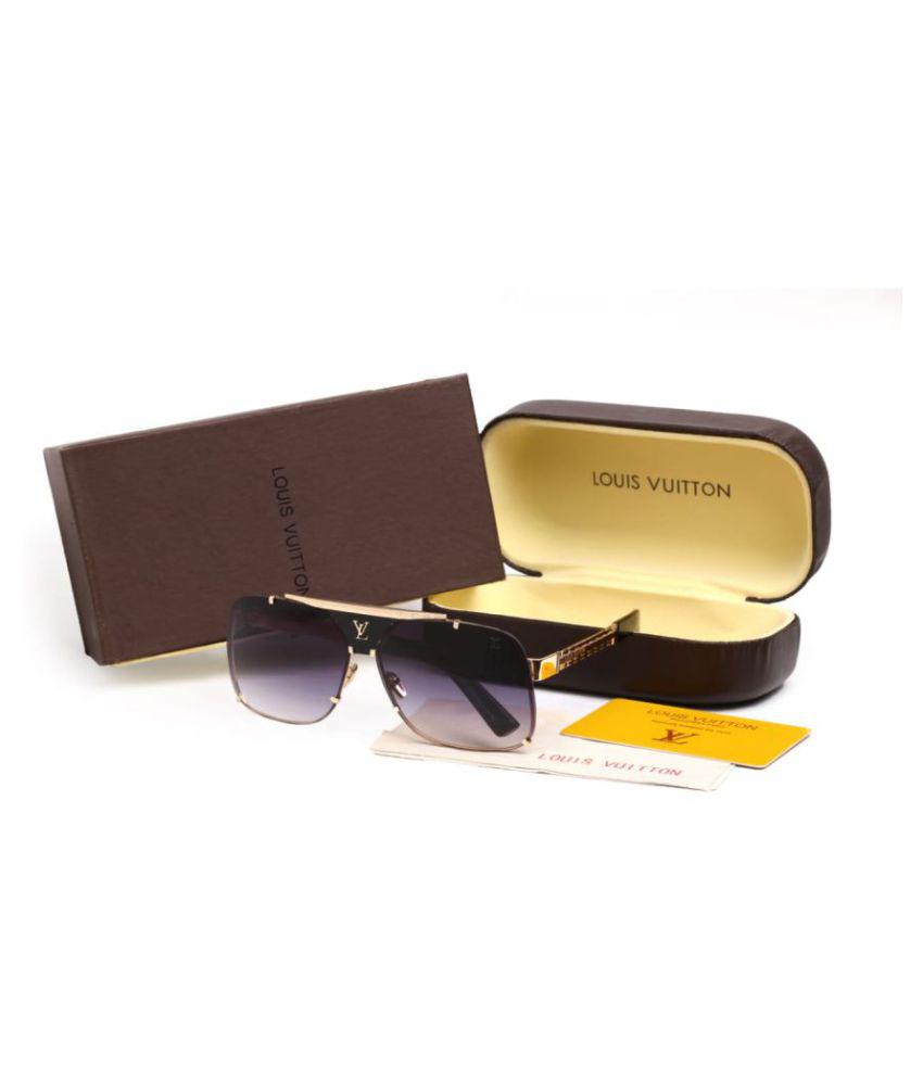 fe2b6d03457 LOUIS VUITTON SUNGLASSES Black Square Sunglasses ( GRT66 ) - Buy LOUIS  VUITTON SUNGLASSES Black Square Sunglasses ( GRT66 ) Online at Low Price -  Snapdeal