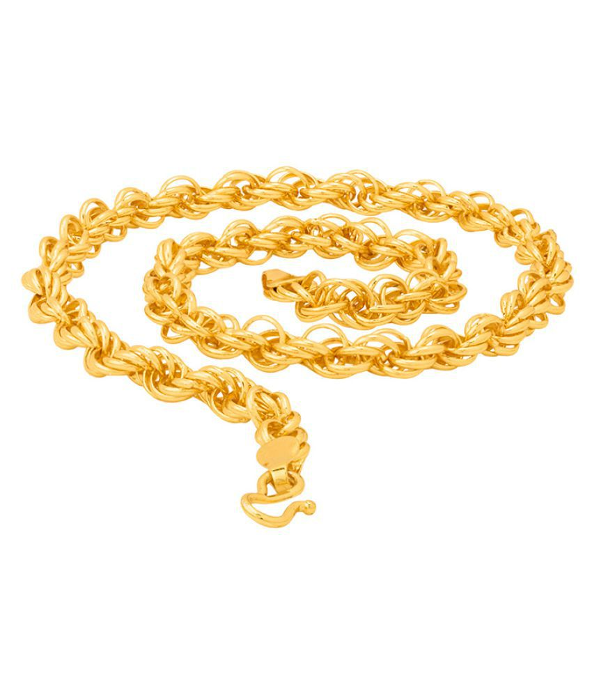 Dare by Voylla Men's Link Chain in Gold Plating