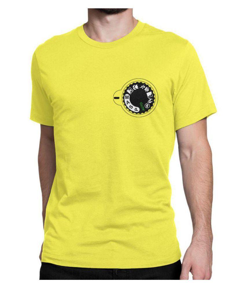 iREPRESENT.iN Yellow Half Sleeve T-Shirt Pack of 1