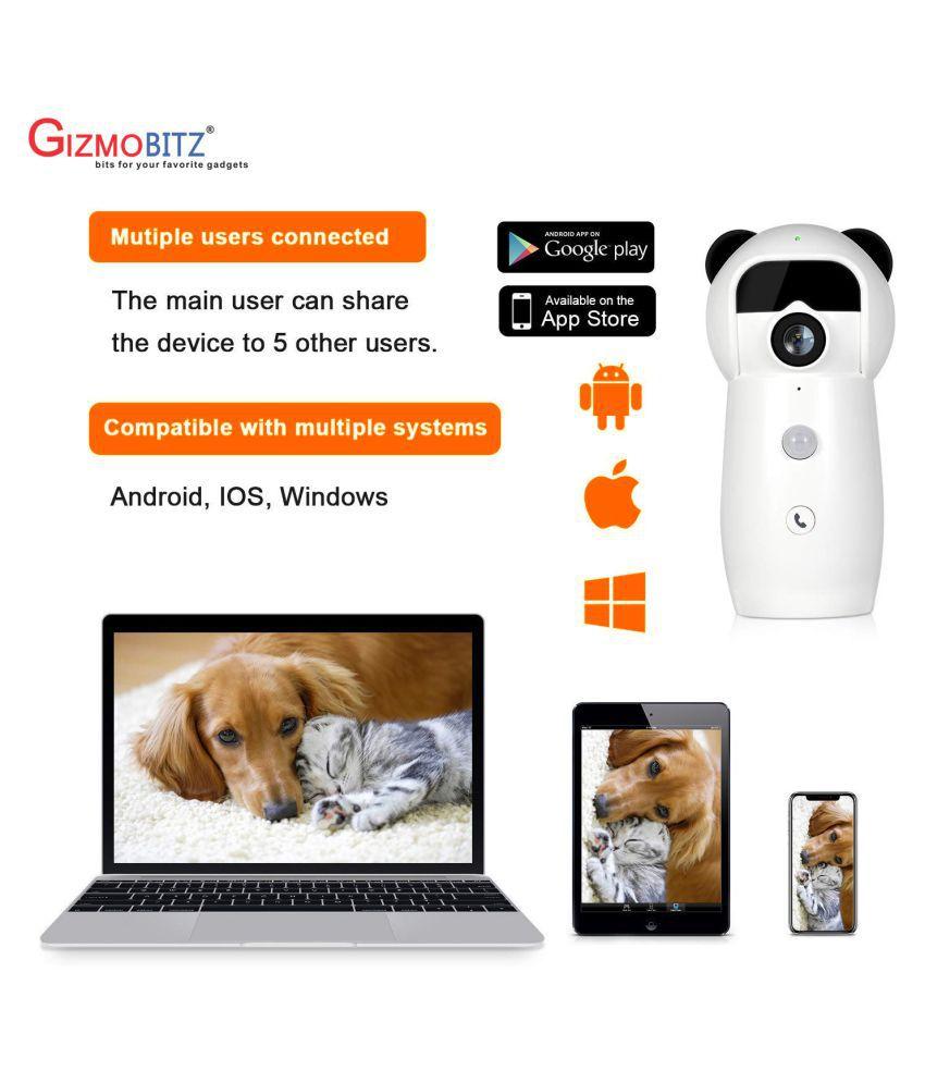 Gizmobitz Cloud 1080HD 360 Eyes Panaromic WI-FI Surveillance Kit