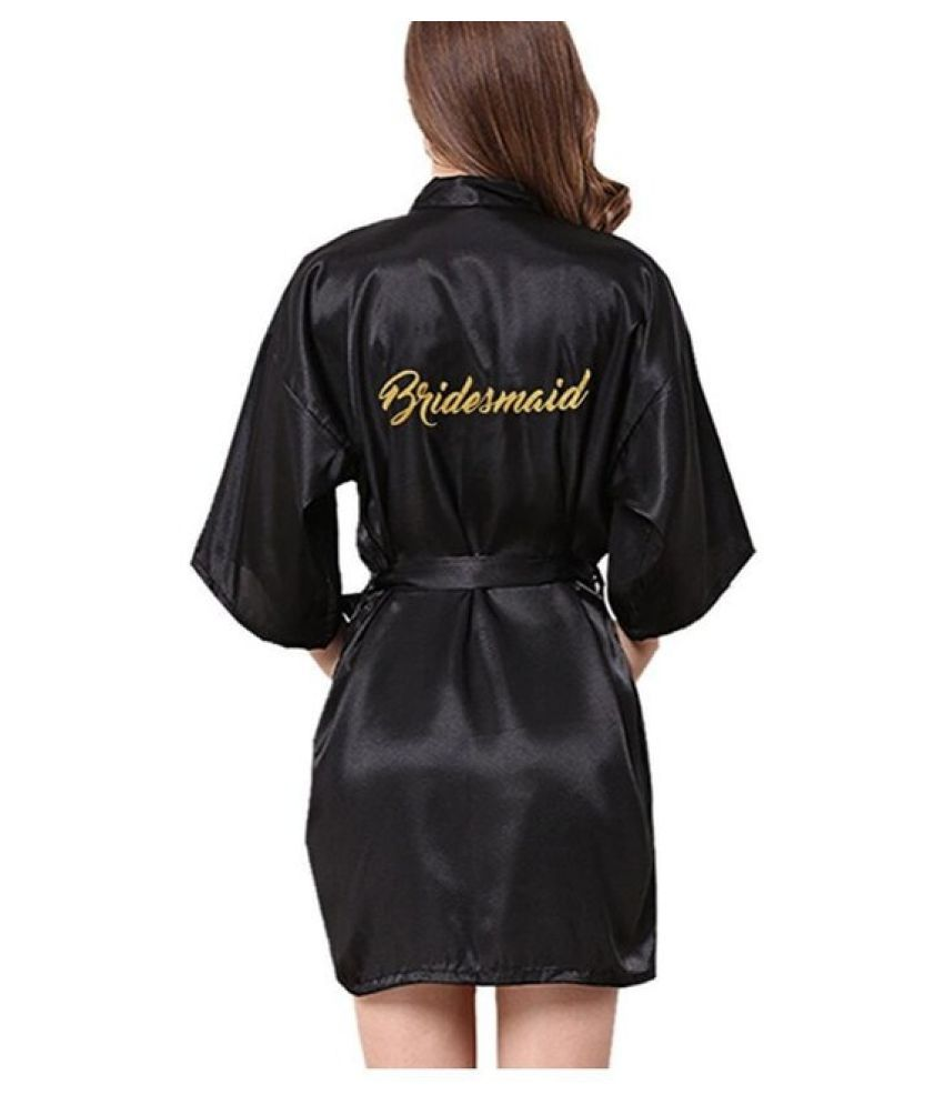 55ba69e3dba4 Buy WowObjects Silk Robes - Black Online at Best Prices in India - Snapdeal
